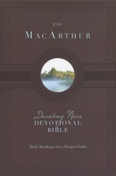 ESV MacArthur Drawing Near Devotional Bible, Hardcover