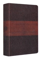 ESV MacArthur Study Bible, Personal Size, TruTone, Chocolate/Walnut, Trail Design
