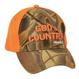 God and Country Cap, Orange and Camo