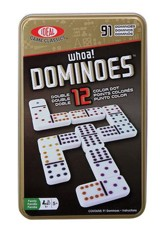 Double 12 Dominoes in a Tin
