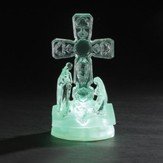 Cross and Holy Family on Bible, LED Figure