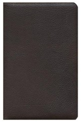 ESV Heirloom Thinline Bible, Genuine Goatskin Leather, Brown