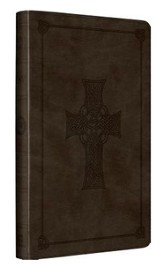 ESV UltraThin Bible (TruTone, Olive, Celtic Cross Design), Leather, imitation