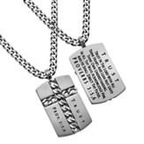 Trust Chain Cross Necklace, Silver