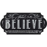 Believe Chalkboard Wall Art