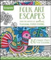 Folk Art Escapes for Adults