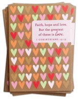 Faith, Hope & Love Packaged Valentine Cards