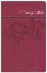 NKJV Ultraslim Bible, Imitation Leather, Cranberry