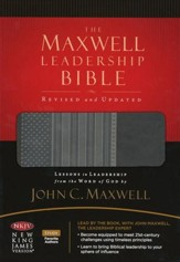 NKJV The Maxwell Leadership Bible: LeatherSoft/Charcoal Gray (Revised and Updated)