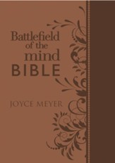 Battlefield of the Mind Bible: Renew Your Mind Through the Power of God's Word, Imitation Leather, brown - Slightly Imperfect