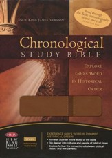 The NKJV Chronological Study Bible, LeatherSoft Milk Chocolate  - Slightly Imperfect