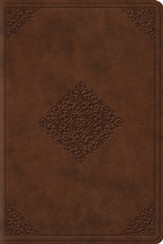 ESV Study Bible, Personal Size (TruTone, Saddle, Ornament Design) - Imperfectly Imprinted Bibles