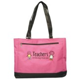 Teachers are a Blessing Pink and Black Tote, Small