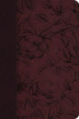 ESV Gospel Transformation Bible, TruTone, Burgundy with Blossom Design