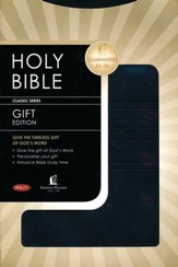 NKJV Gift Bible: Leathersoft Burnish Black Tread
