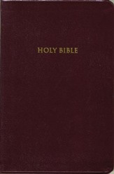KJV Giant Print Personal Size Reference Bible, Bonded leather, Burgundy