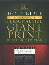 KJV Giant Print Personal Size Reference Bible, Bonded leather, Black