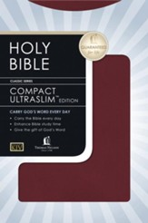 KJV, UltraSlim Compact Bible, Imitation Leather,  Burgundy