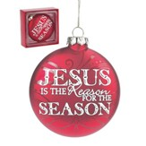 Jesus is the Reason for the Season Ornament, Red