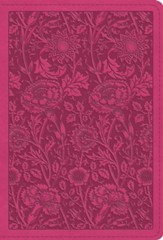 ESV Large Print Compact Bible, TruTone Imitation Leather, Berry, Floral Design - Slightly Imperfect