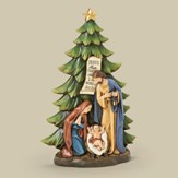 Tree with Holy Family Figure