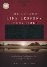 NKJV Lucado Life Lessons Study Bible, Bonded Leather, Black - Slightly Imperfect