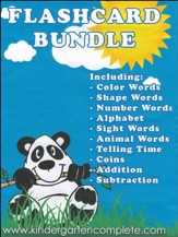Kindergarten Complete Flashcard Bundle