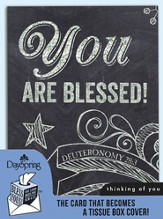 You Are Blessed, Thinking Of You Card and Tissue Box Cover