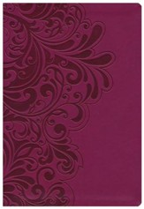 NKJV Study Bible, Second Edition, Leathersoft, cranberry
