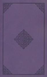 ESV Holy Bible, Value Edition, TruFlat, Lavender, Ornament Design