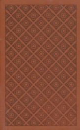 ESV Holy Bible, Value Edition, TruFlat, Sienna, Flower Print Design