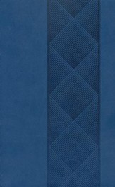 ESV Holy Bible, Value Edition, TruFlat, Navy, Diamondback Design