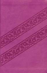 KJV Compact Ultraslim Bible--soft leather-look, lotus pink