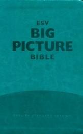 ESV Big Picture Bible--soft leather-look, teal