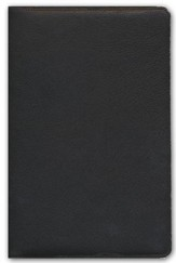 ESV Omega Large-Print Thinline Reference Bible--goatskin leather, deep brown