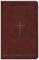 ESV UltraThin Bible--soft leather-look, brown with cross design