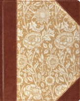 ESV Single-Column Journaling Bible--clothbound hardcover with antique floral design