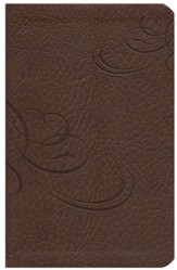 NKJV Jesus Calling Devotional Bible, Leathersoft, Chocolate