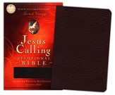 NKJV Jesus Calling Devotional Bible: Enjoying Peace in His Presence, Bonded Leather, Burgundy - Slightly Imperfect