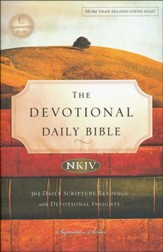 NKJV Devotional Daily Bible, Hardcover, Multicolor