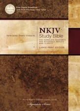 NKJV Study Bible, Large Print, Hardcover
