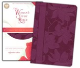 NKJV The Woman's Study Bible, Leathersoft, plum indexed - Imperfectly Imprinted Bibles