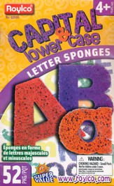 Super Value Capital & Lower Case Letters Sponges