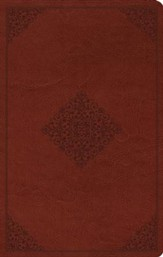 ESV Large Print Value Thinline Bible (TruTone, Tan, Ornament Design), Leather, imitation, Tan