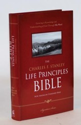 NASB Charles F. Stanley Life Principles Study Bible - Slightly Imperfect
