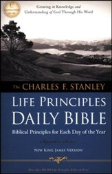 NKJV Charles Stanley Life Principles Daily Bible,  Repackaged - Slightly Imperfect