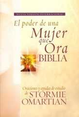 Biblia El Poder de una Mujer que Ora NVI, Enc. Dura  (NVI The Power of a Praying Woman Bible, Hardcover) - Slightly Imperfect