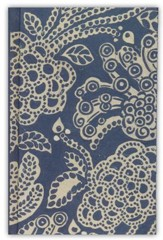 ESV Compact Bible, Cloth over Board, Blue Flora