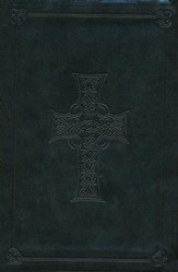 ESV Compact Outreach Bible, Premium Edition, Celtic Cross Design, Imitation Leather, Dark Olive Green