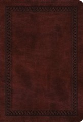 ESV Value Compact Bible (TruTone, Mahogany, Border Design), Leather, imitation, Burgundy/Maroon